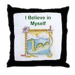 Nessie Believe Throw Pillow