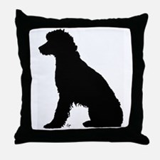 Fanny on the dock Throw Pillow
