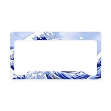 Hokusai Surf's Up! Great Wave License Plate Holder