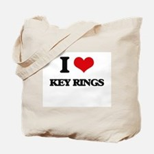 I Love Key Rings Tote Bag