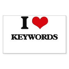 I Love Keywords Decal