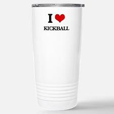 I Love Kickball Travel Mug