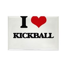 I Love Kickball Magnets