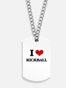 I Love Kickball Dog Tags