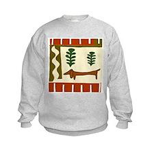 Abstract Dachshund Sweatshirt