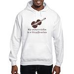 Stradivarius Violin Humor Grey Hooded Sweatshirt