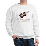 Stradivarius Violin Humor White Sweatshirt
