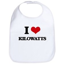 I Love Kilowatts Bib