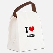 I Love Kilts Canvas Lunch Bag
