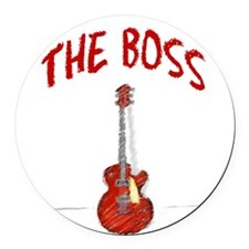 The Boss, Guitar Round Car Magnet