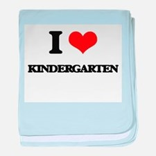 I Love Kindergarten baby blanket