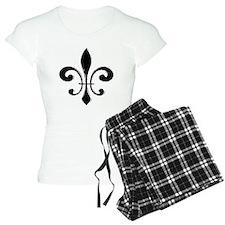 Black Fleur De Lis Pajamas