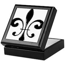 Black Fleur De Lis Keepsake Box