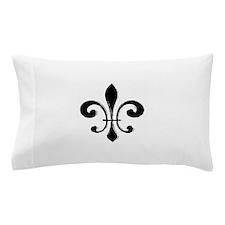 Black Fleur De Lis Pillow Case