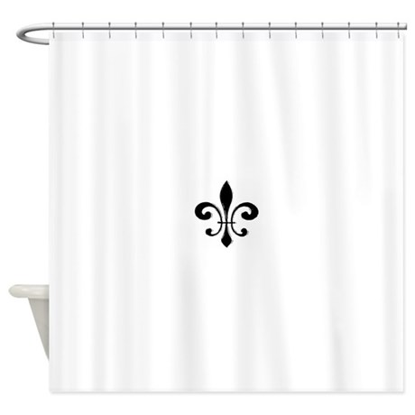 Black fleur de lis shower curtain by admin cp154848 - Fleur de lis shower curtains ...
