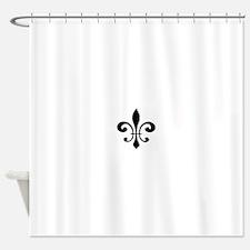 Black Fleur De Lis Shower Curtain