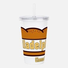 philly cheese steak Acrylic Double-wall Tumbler