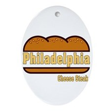 philly cheese steak Ornament (Oval)