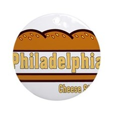 philly cheese steak Ornament (Round)