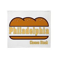 philly cheese steak Throw Blanket
