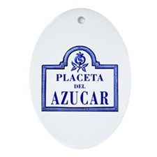 Placeta del Azúcar, Granada - Spain Ornament (Oval