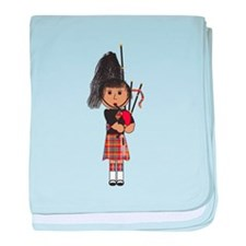 Bagpiper baby blanket