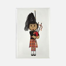 Bagpiper Rectangle Magnet