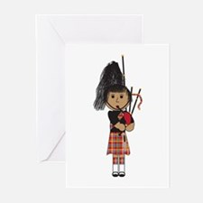 Bagpiper Greeting Cards (Pk of 20)