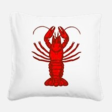 Large Lobster Square Canvas Pillow