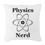 Physics Nerd Woven Throw Pillow
