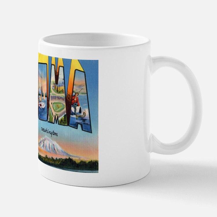 Tacoma Washington Greetings Mug