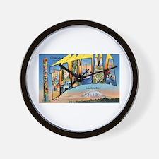 Tacoma Washington Greetings Wall Clock