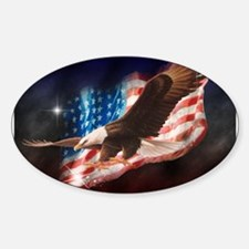 Cute American Sticker (Oval 10 pk)