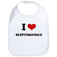 I Love Kleptomaniacs Bib