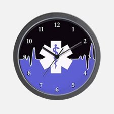 Blue Emergency Medical Wall Clock