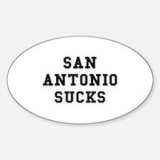 San Antonio Sucks Oval Decal