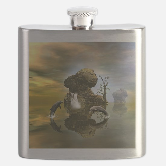 Playing dolphins Flask