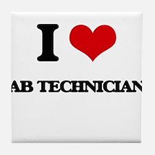 I Love Lab Technicians Tile Coaster