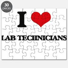 I Love Lab Technicians Puzzle