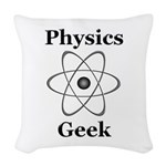 Physics Geek Woven Throw Pillow
