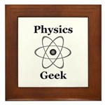 Physics Geek Framed Tile