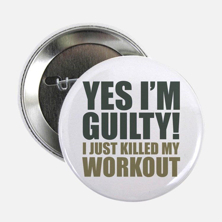 """Yes I'm Guilty! 2.25"""" Button (10 pack)"""