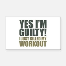 Yes I'm Guilty! Rectangle Car Magnet