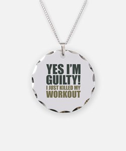 Yes I'm Guilty! Necklace Circle Charm