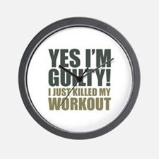 Yes I'm Guilty! Wall Clock
