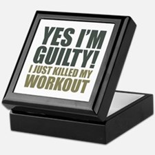 Yes I'm Guilty! Keepsake Box