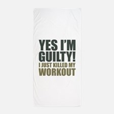 Yes I'm Guilty! Beach Towel
