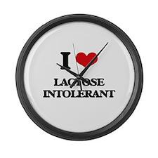 I Love Lactose Intolerant Large Wall Clock