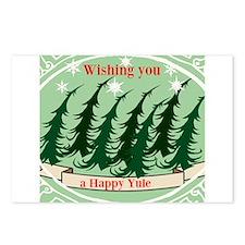 Happy Yule Postcards (package Of 8)