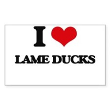I Love Lame Ducks Decal
